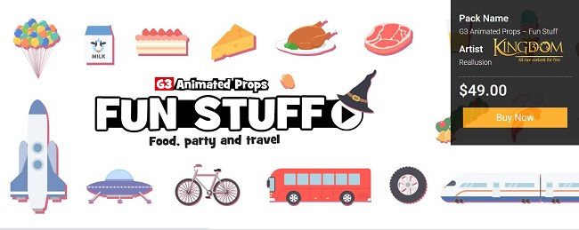 AVAILABLE NOW FOR PREMIUM MEMBERS: G3 Animated Props – Fun Stuff