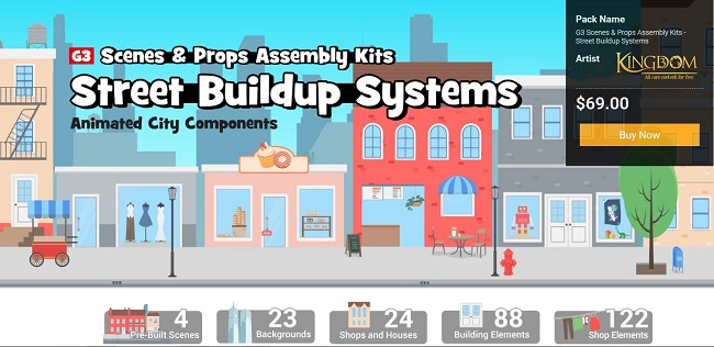 G3 Scenes & Props Assembly Kits - Street Buildup Systems